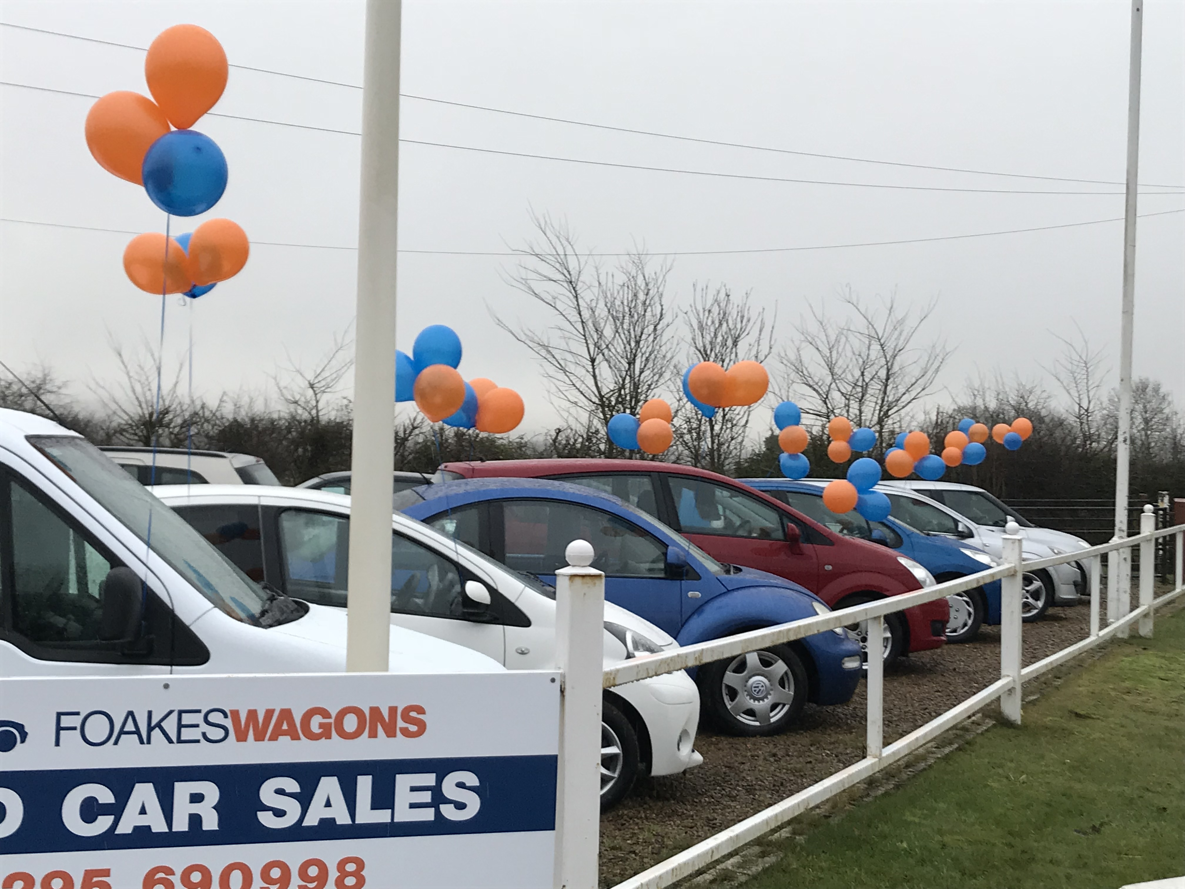 Open day balloons at our Banbury forecourt