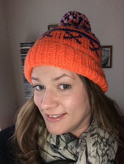My mum is a keen knitter.... so she made me a 'Foakeswagons' themed bobble hat for winter!