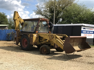 This is the day 'the digger' that was stuck on my forecourt was removed... it was a happy day for me