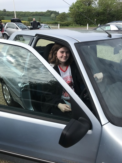 Charlotte who travelled from Abingdon to get her 1st car from me