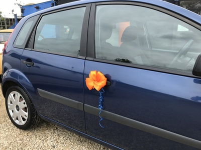 I do try to make things special when i can.... someone collecting their surprise car....