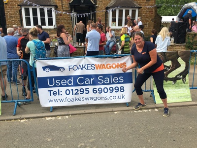 Sponsorship banner for local village soap box race - Very proud to support local