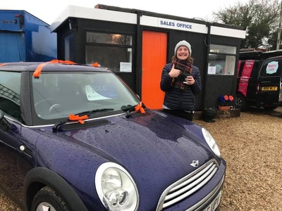 Katie collecting her new car....... an extra special picture...... My first sale from Foakeswagons