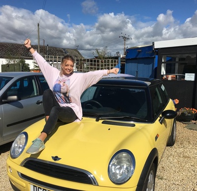 Sian collecting her new car like this makes everything worth while